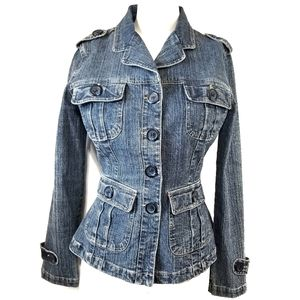 Plugg | Jean Jacket size S Small button down denim